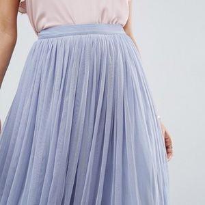 Blue Tulle Prom Skirt